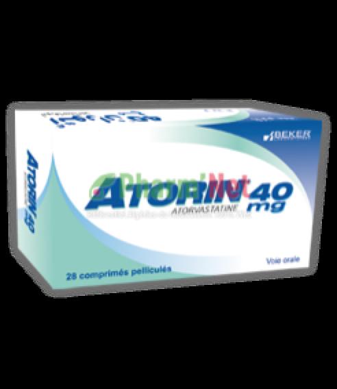 ATORIN 40MG COMP. PELLI. B/30 | PharmNet - Encyclopédie