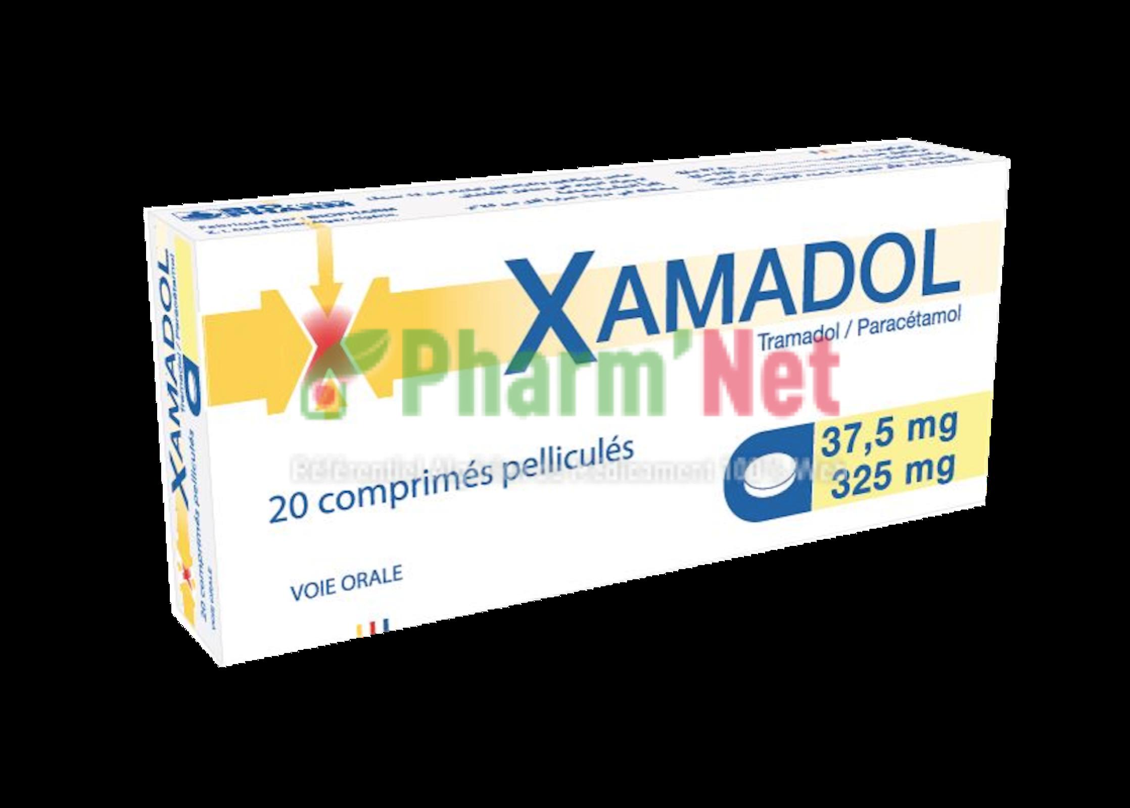 XAMADOL 325MG / 37,5MG COMP. PELLI. B/20 | PharmNet