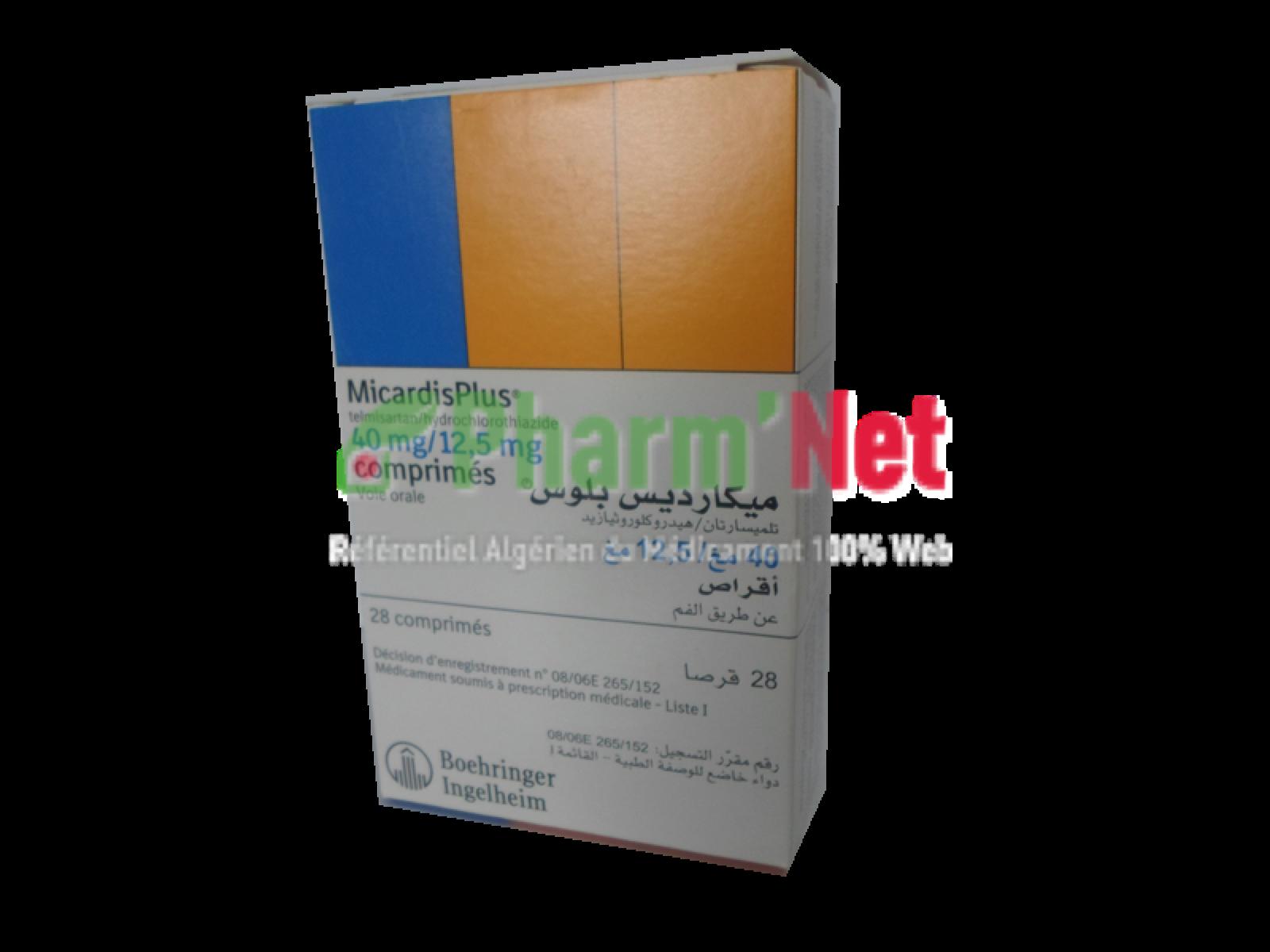 MICARDIS PLUS 40MG/12,5MG COMP. B/28 | PharmNet