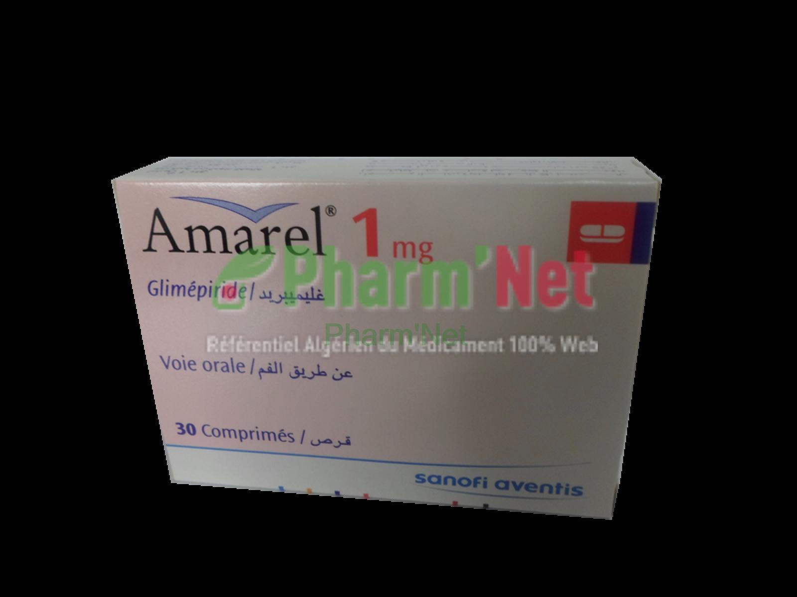 AMAREL 1MG COMP. B/30 | PharmNet - Encyclopédie des