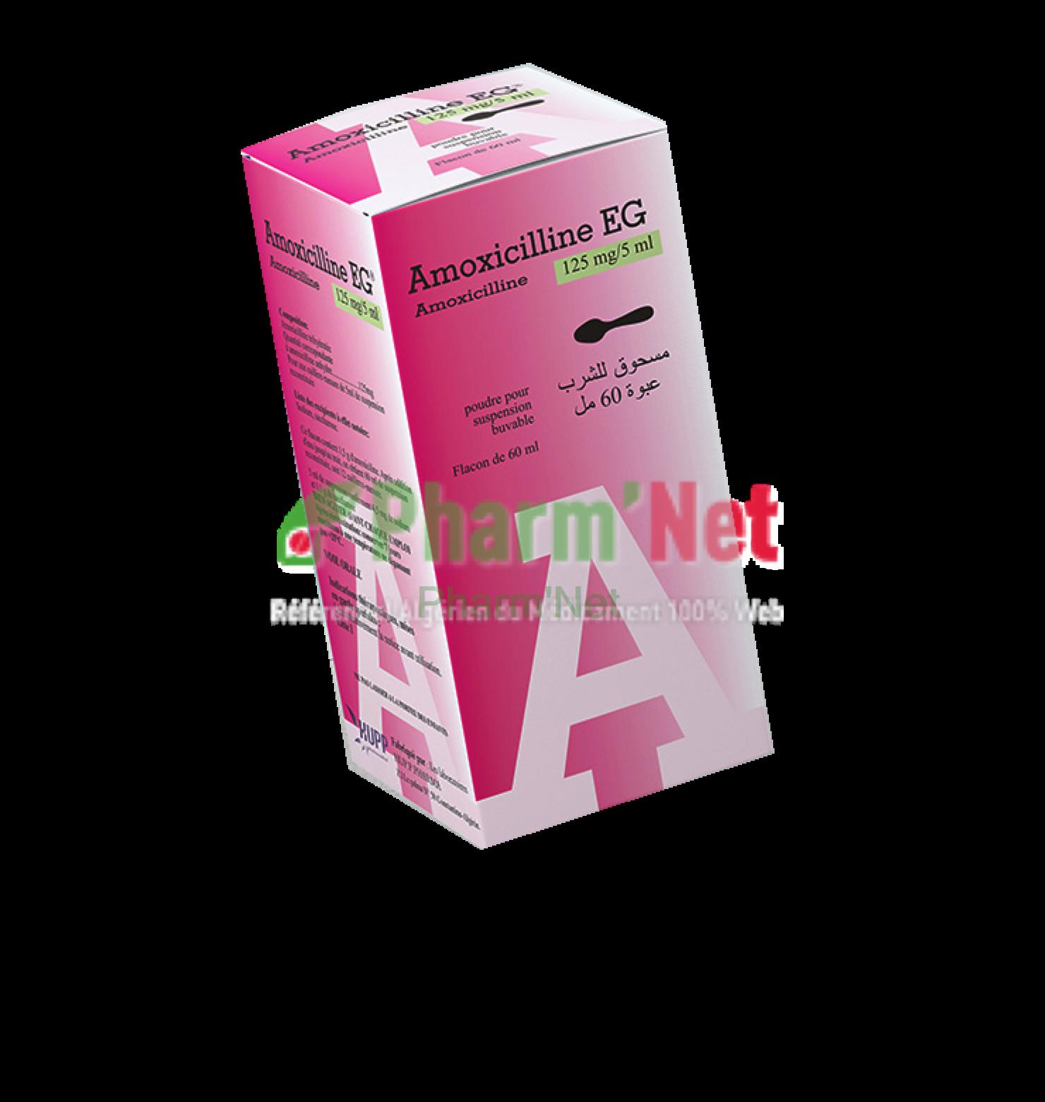 AMOXICILLINE EG 125MG/5ML PDRE  SUSP  BUV  FL /60ML